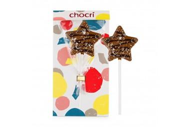 """chocri """"Silberschnuppe"""" Weihnachts-Schokoladenlolly"""