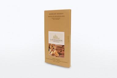 """Confiserie Lauenstein """"Gefüllte Schokolade - Dunkler Nougat"""" Schokoladen-Tafel"""
