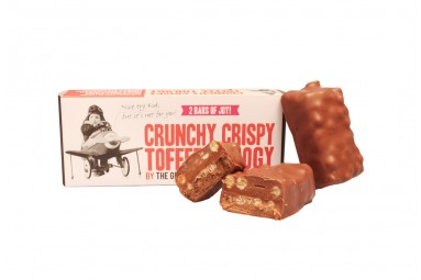 "The Grown Up Chocolate Company ""Crunchy Crispy Toffee Trilogy"" Schokoladen-Riegel"