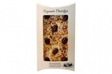 """""""Dynamite Chocoffee"""" Blog-Schokoladen-Tafel"""