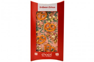 """""""Erdbeer-Zirkus"""" Schokoladen-Tafel"""