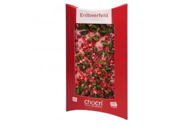 """""""Erdbeerfeld"""" Schokoladen-Tafel"""