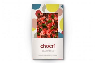 """chocri """"Erdbeerfeld"""" Schokoladen-Tafel"""