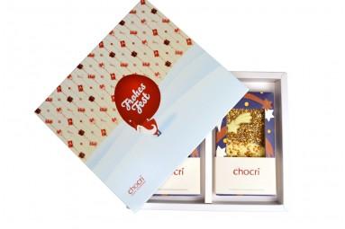 """chocri """"Frohe Weihnachten"""" Geschenk-Box"""