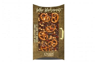 "chocri ""Goldige Glücksmomente"" Blog-Schokoladen-Tafel"