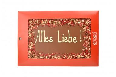 """""""Alles Liebe!"""" Maxi-Gruß-Schokoladen-Tafel"""