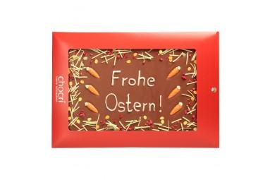 "chocri ""Frohe Ostern!"" Gruß-Schokoladen-Tafel"