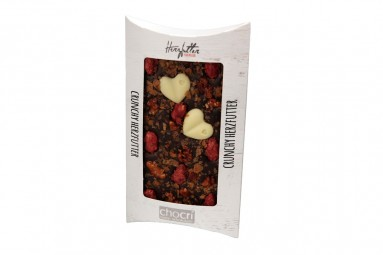 "chocri ""Crunchy Herzfutter"" Blog-Schokoladen-Tafel"