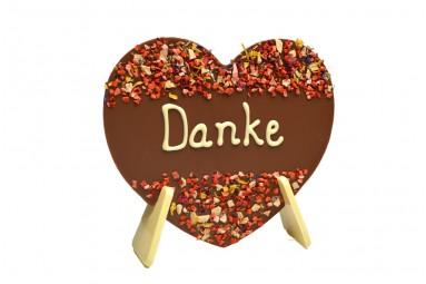 """chocri """"Danke"""" Schokoladen-Herz"""