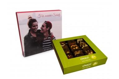 "chocri ""Vegane Weltreise"" Mini-Tafeln mit individueller Verpackung"