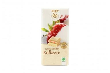 """GEPA """"Weisse Jogurt - Erdbeere"""" Schokoladen-Tafel"""