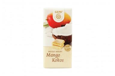 "GEPA ""Weisse Jogurt - Mango Kokos"" Bio-Schokoladen-Tafel"