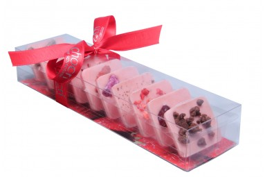 """Süße Erdbeerwelt"" Mini-Schokoladen-Tafeln"