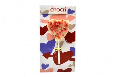 """chocri """"Herz Erdbeerliebe"""" Schoko-Lolly"""