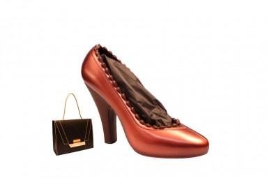 Roter Schokoladen-High Heel