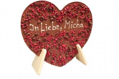 """chocri """"Gruß-Schokoladen-Tafel - Herz"""" mit individuellem Text"""