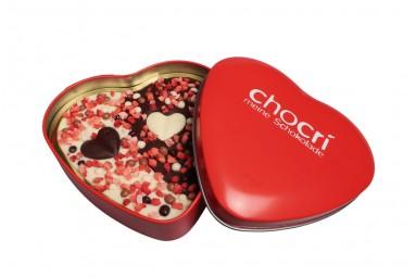 """chocri """"Teil von Dir"""" Herz-Schokoladen-Tafel + Geschenk-Dose"""
