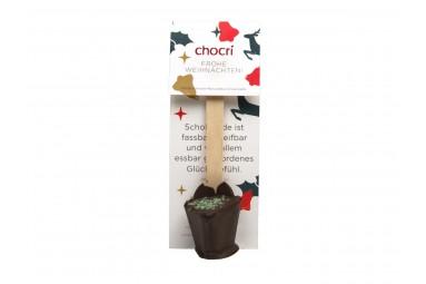 "chocri ""Zartbitter - Minze"" Trink-Schokolade (Christmas-Edition)"
