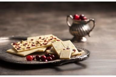 """Laurence """"Weiße Schokolade mit Pistazien, Mandeln & Cranberries"""" Schokoladen-Tafel"""