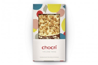 "chocri ""Yin und Yang"" Schokoladen-Tafel"