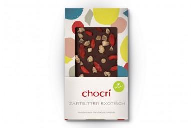 "chocri ""Zartbitter exotisch"" Vegane Schokoladen-Tafel"