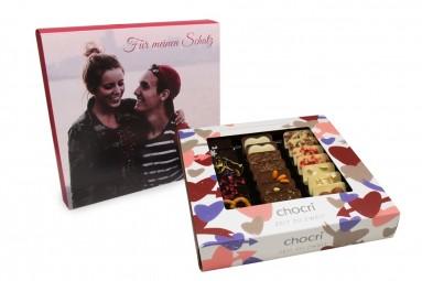 """chocri """"Zeit zu zweit"""" Mini-Schokoladen-Tafeln mit individueller Verpackung"""