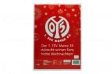 Schoko-Adventskalender '1. FSV Mainz 05' Rückseite mit Weihnachtswünschen