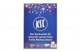 Schoko-Adventskalender 'Karlsruher SC' Rückseite mit Weihnachtswünschen