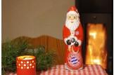 Mit dem Schoko-Weihnachtsmann des 'FC Bayern München' wird's erst richtig festlich