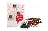 chocri 'Veganer Adventskalender' mit 24 veganen Mini-Schokoladen-Tafeln | chocri Schokoladen-Shop