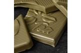 Mate Schokoladentafel 'Mate Krauseminze' Tee-Schokolade mit Matetee und Krauseminze im Detailansicht