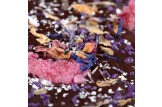 chocri 'Ein Strauß Buntes' Schokoladentafel mit Blüten, Echtsilber im Detailansicht