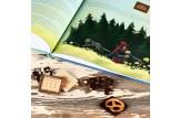 YouHou 'Märchen-Weltreise®' Mini-Schokoladentafeln Detailansicht Märchenbuch und Schokoladentäfelchen