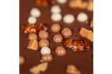chocri 'Crunchy Caramel' Schokoladen-Tafel Detailansicht