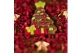 chocri 'Weihnachtsglanz' Weihnachts-Schokoladen-Tafel Detailansicht