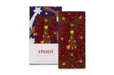 chocri 'Weihnachtsglanz' Weihnachts-Schokoladen-Tafel ausgepackte Tafel