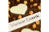 chocri 'Süße Grüße' Schkoladen-Tafel Detailansicht
