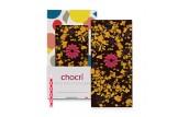 chocri 'Hoch sollst Du leben' Geburtstags-Schokoladen-Tafel ausgepackt mit Kerze