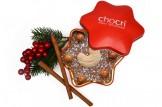 """chocri """"Christmas Star"""" Weihnachts-Schokoladen-Stern-Tafel + Geschenk-Dose"""