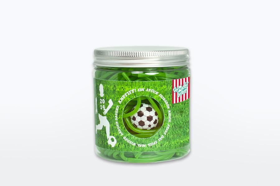 Der Zuckerbäcker Der essbare Fußballrasen Fruchtgummi Schnüre