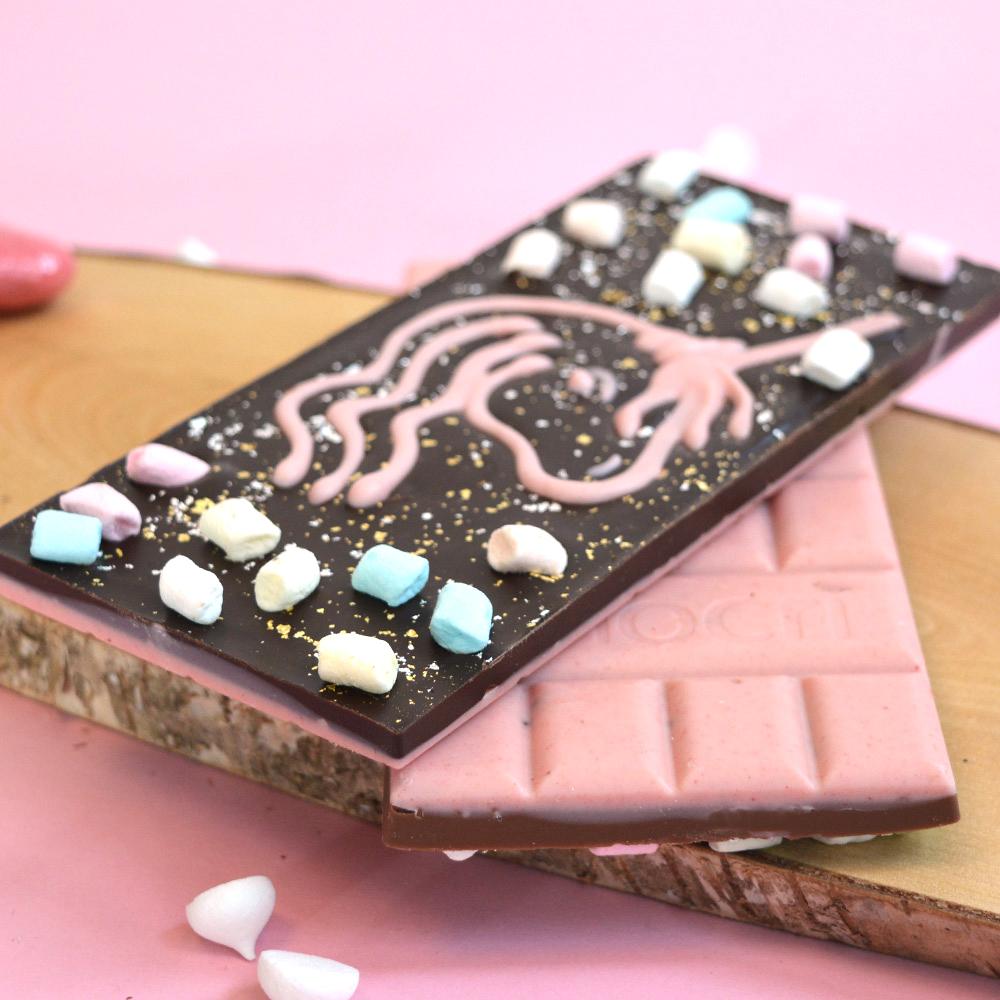 Fluffy Glitter Unicorn Einhorn Schokolade