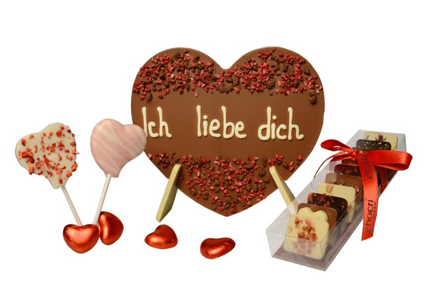 chocri Weil ich Dich liebe Schokoladen Geschenkset