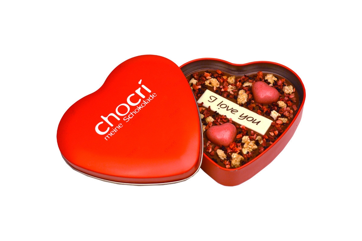 - chocri Herz an Herz Herz Schokoladen Tafel Geschenk Dose - Onlineshop Chocri