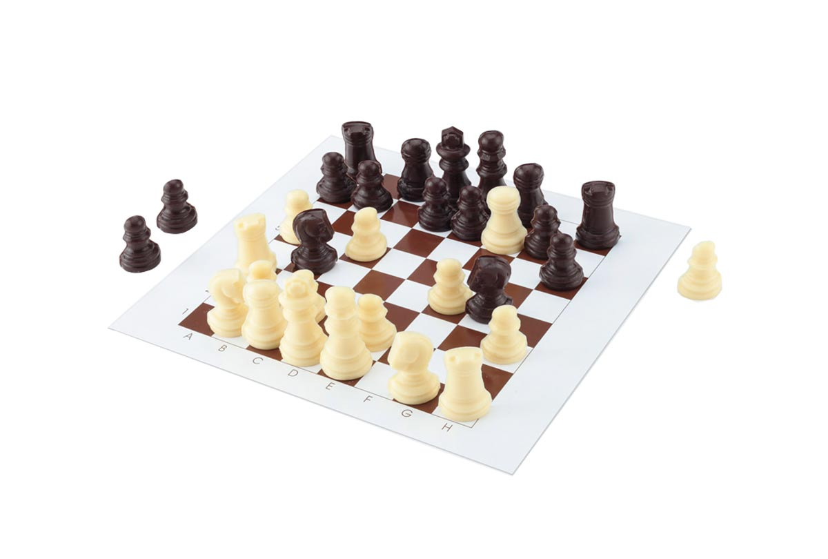 Hussel Confiserie Schachmatt Schokoladen Spiel