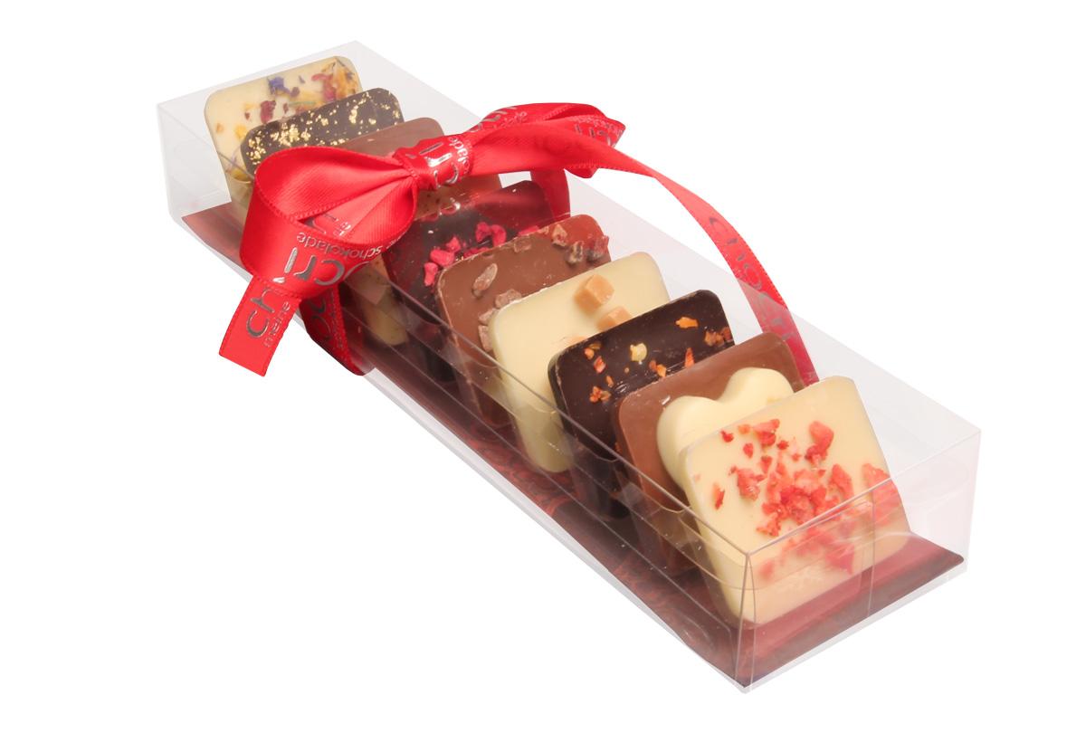 Kleine Weltreise für Verliebte Mini Schokoladen Tafeln