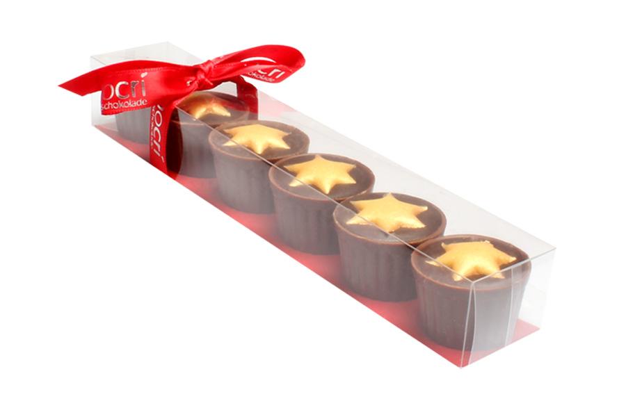 Marzipan Star Pralinen Cups