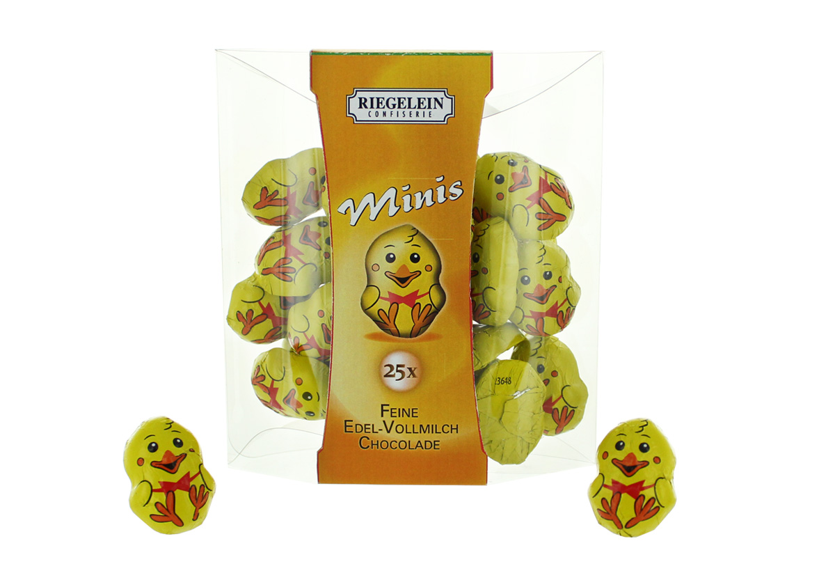 Confiserie Riegelein Minis Küken Schokoladen Figuren