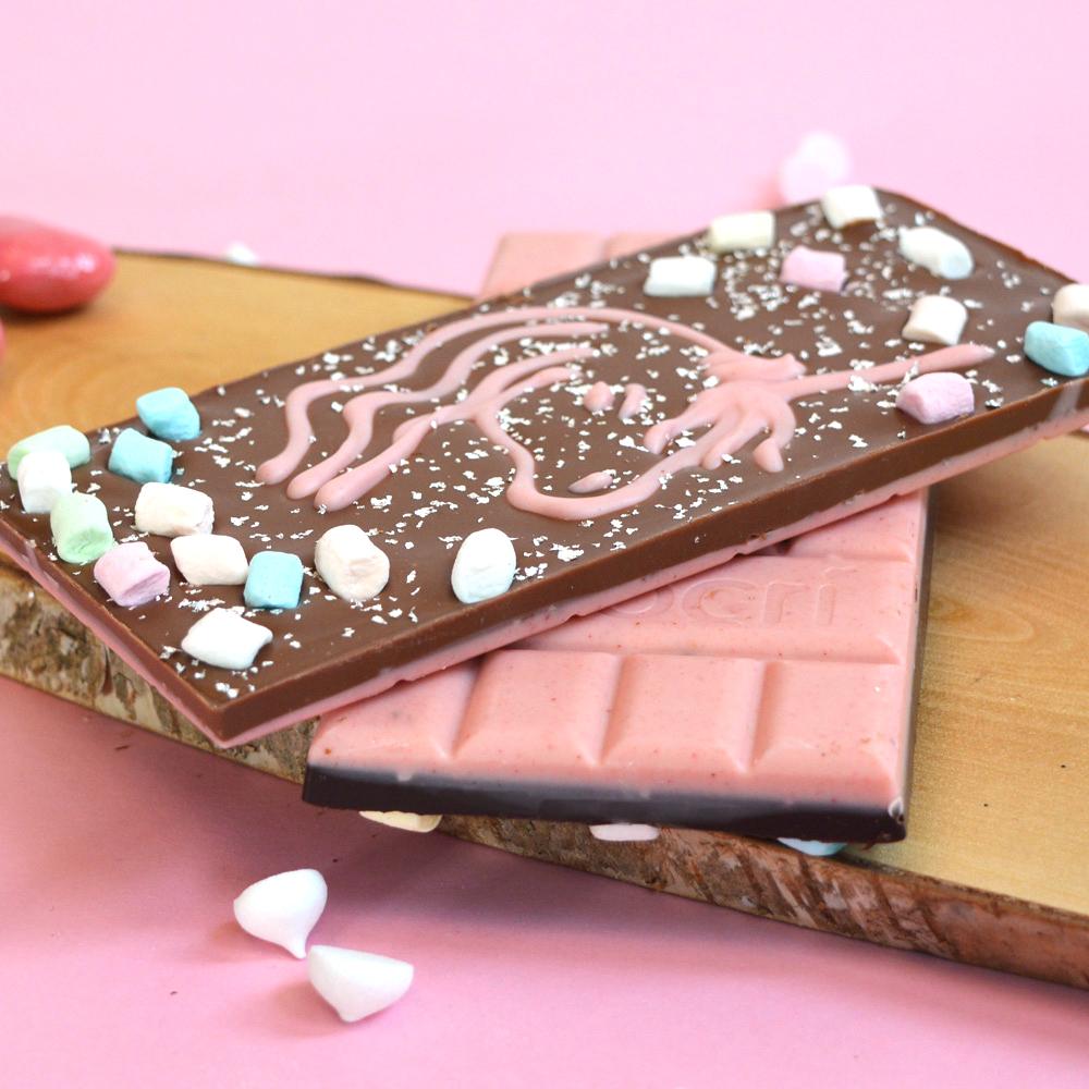 Pink Fluffy Unicorn Einhorn Schokolade