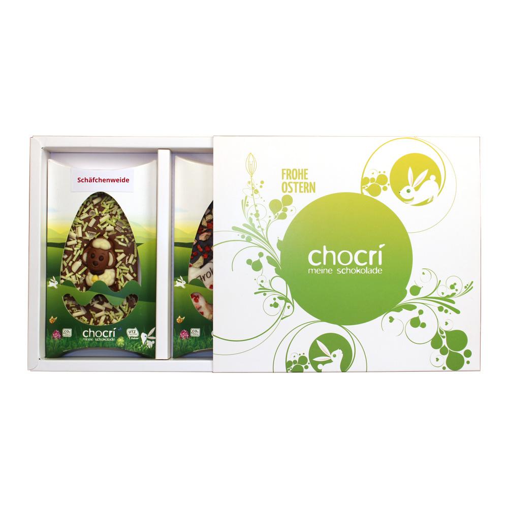 Ostergeschenkbox mit Schokoladentafeln