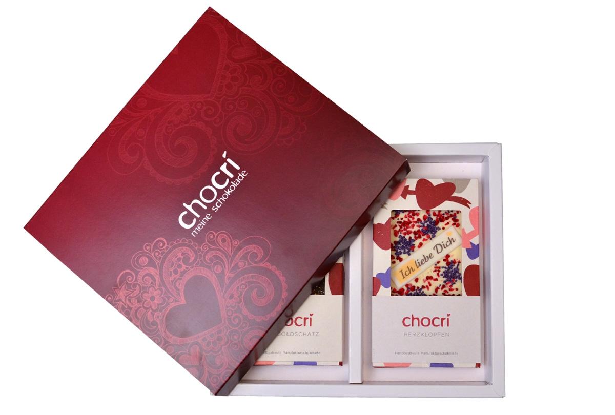 chocri Schokoladen Liebe Geschenk Box